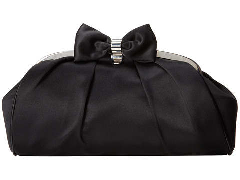 Jessica McClintock - Bow Frame Clutch (Black) Clutch Handbags