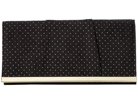 Jessica McClintock - Metallic Dot Clutch (Black) Clutch Handbags