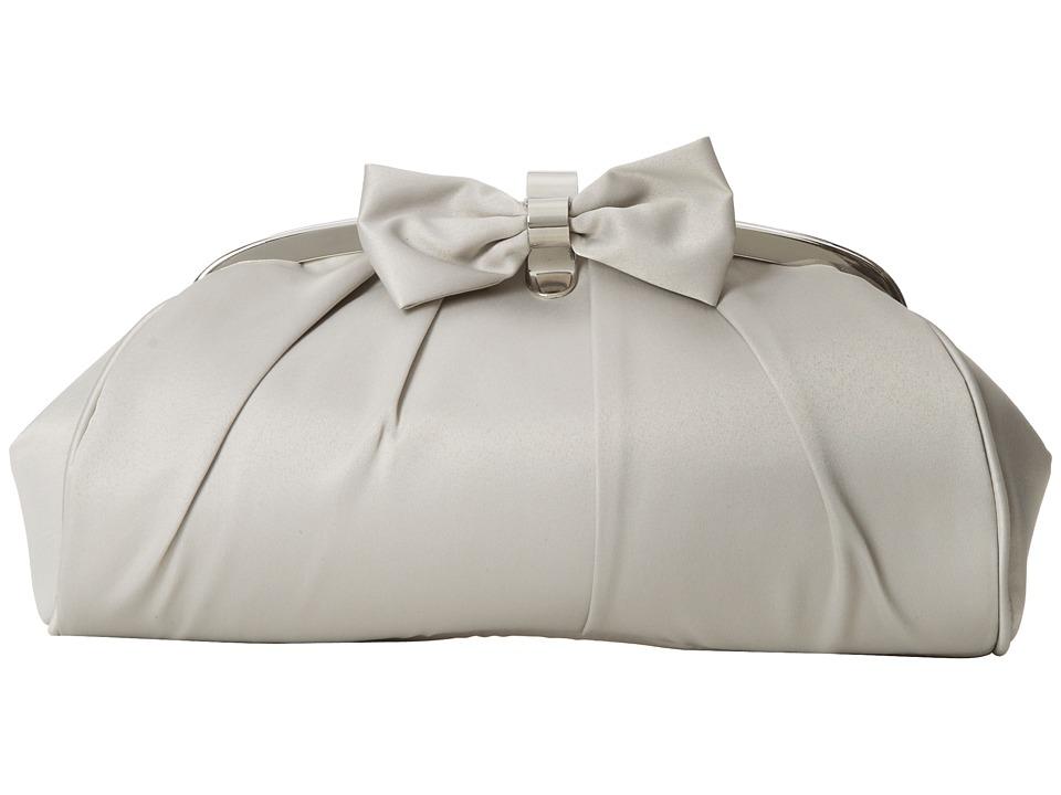 Jessica McClintock - Bow Frame Clutch (Silver) Clutch Handbags