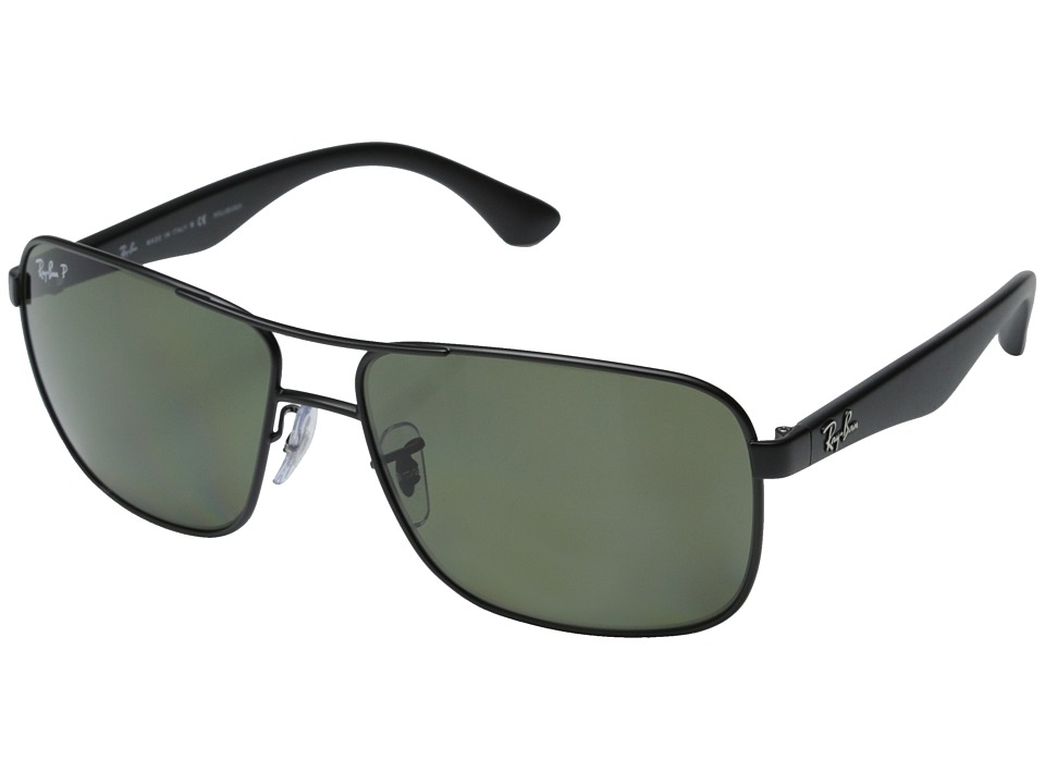 Ray-Ban - RB3516 62mm (Matte Black) Fashion Sunglasses