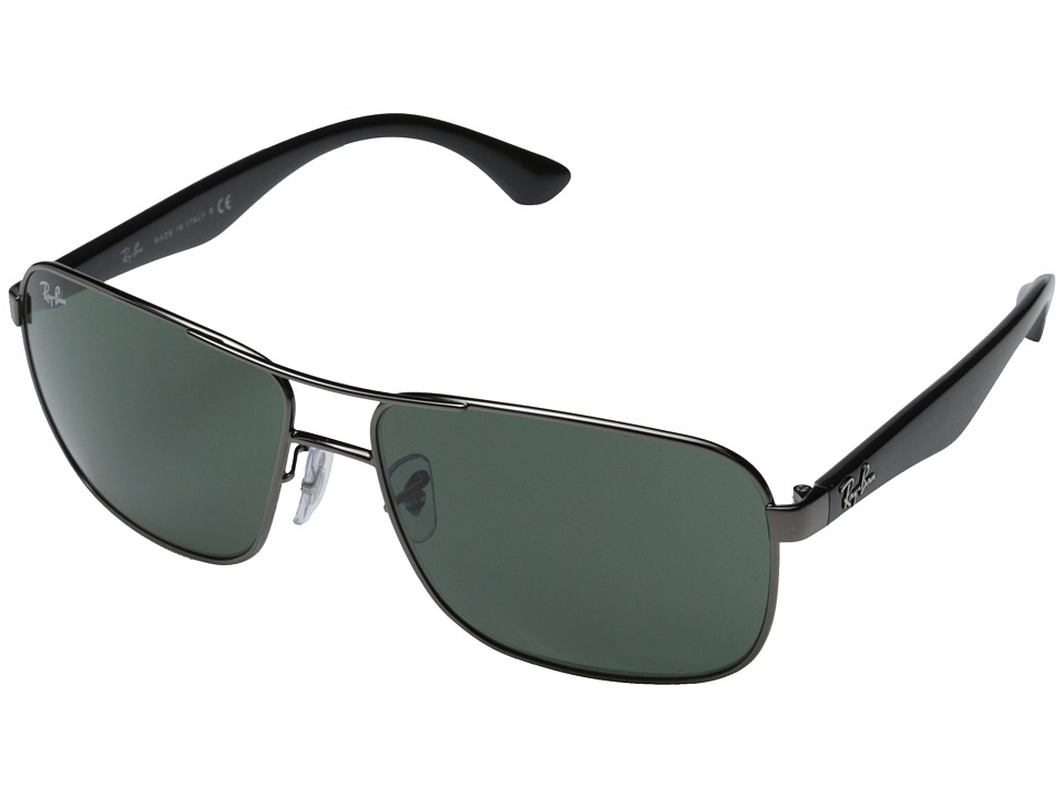 Ray-Ban - RB3516 62mm (Gunmetal) Fashion Sunglasses