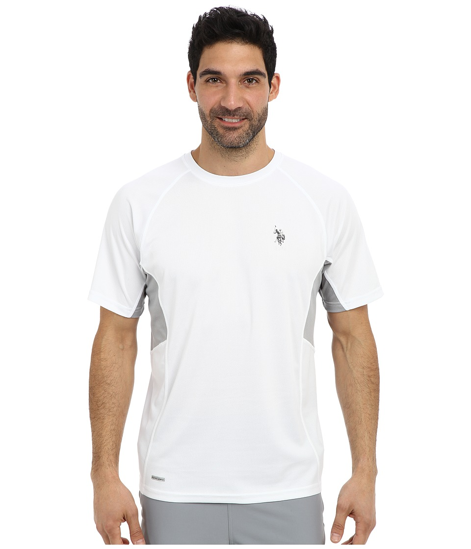 U.S. POLO ASSN. - Raglan Performance T-Shirt (White) Men's Short Sleeve Pullover