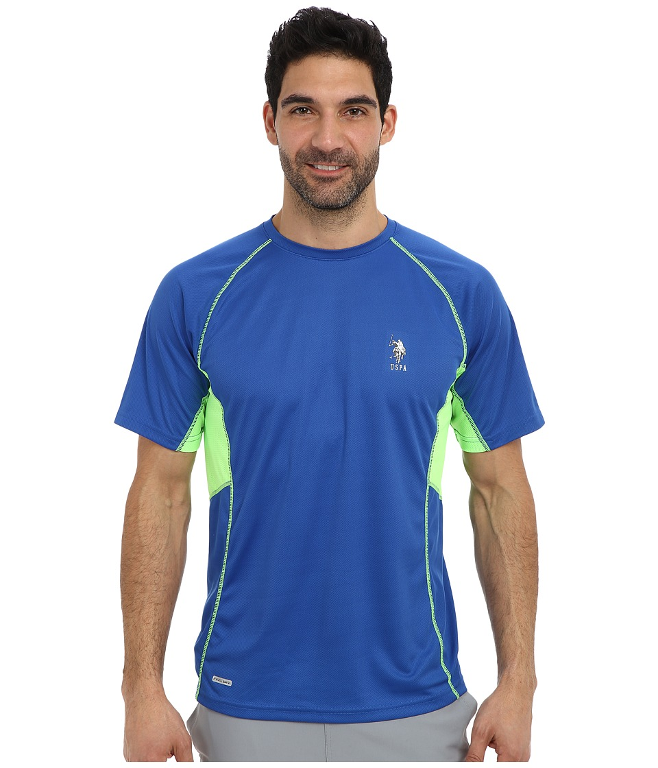 U.S. POLO ASSN. - Raglan Performance T-Shirt (China Blue) Men's Short Sleeve Pullover