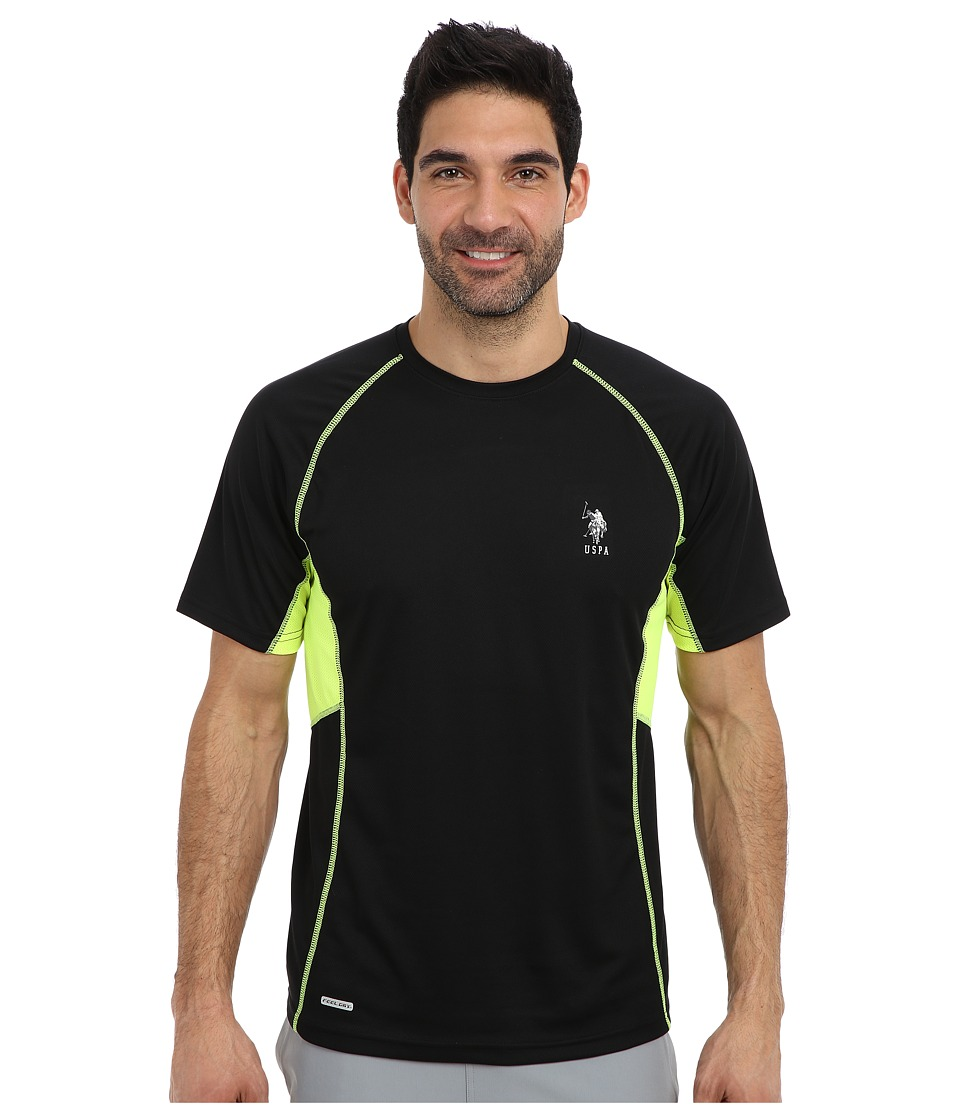U.S. POLO ASSN. - Raglan Performance T-Shirt (Black) Men's Short Sleeve Pullover