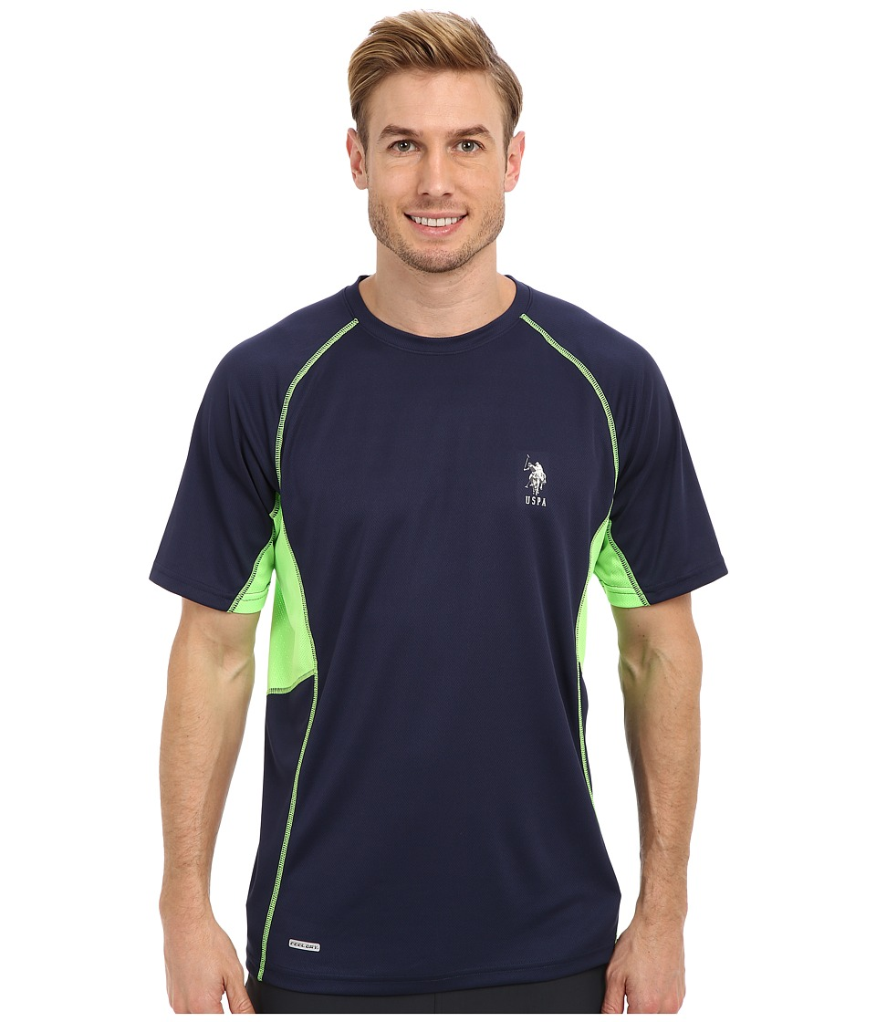U.S. POLO ASSN. - Raglan Performance T-Shirt (Classic Navy) Men's Short Sleeve Pullover