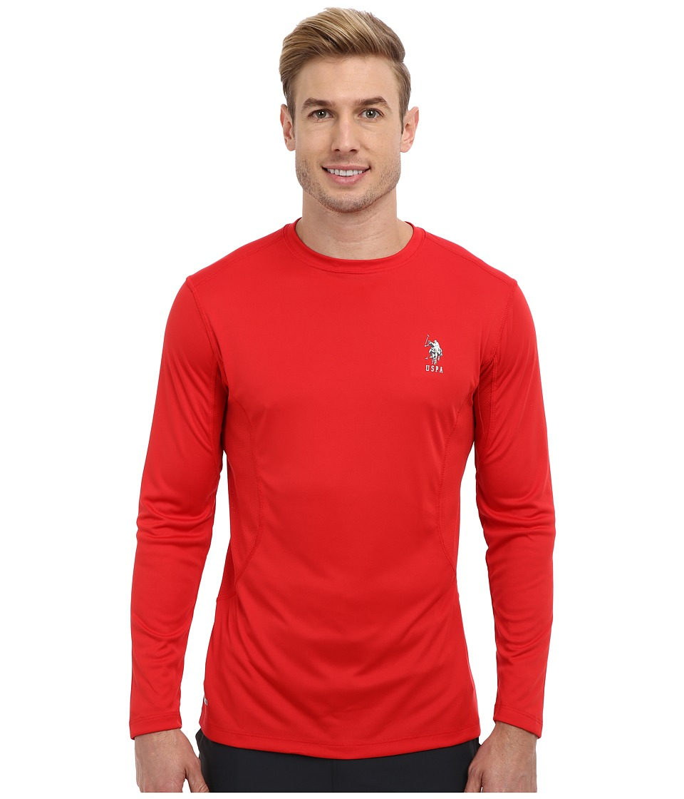 U.S. POLO ASSN. - Performance Long Sleeve T-Shirt (Engine Red) Men