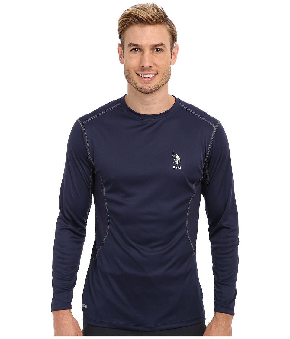 U.S. POLO ASSN. - Performance Long Sleeve T-Shirt (Classic Navy) Men's Long Sleeve Pullover