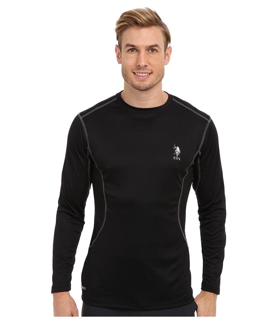 U.S. POLO ASSN. - Performance Long Sleeve T-Shirt (Black) Men