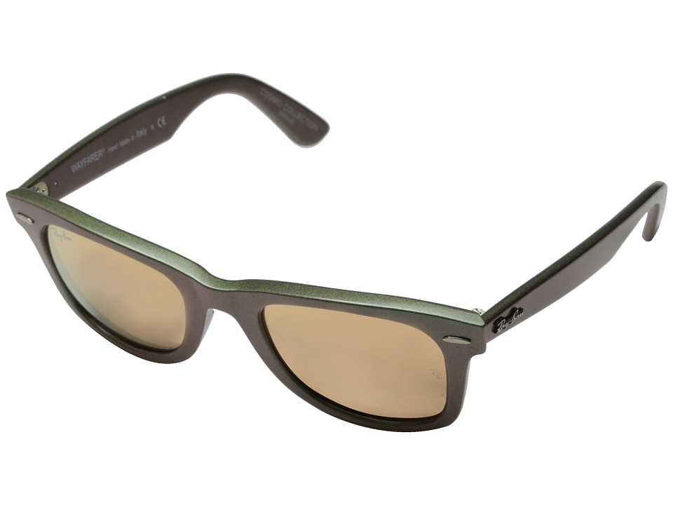 Ray-Ban - RB2140 Iridescent Colored Wayfarer 50mm (Venus Metallic Green/Light Brown Mirror Pink) Fashion Sunglasses