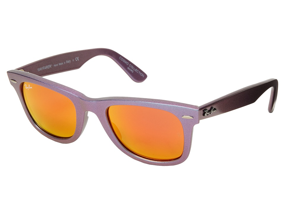 Ray-Ban - RB2140 Iridescent Colored Wayfarer 50mm (Mars Metallic Oil/Brown Mirror Pink) Fashion Sunglasses