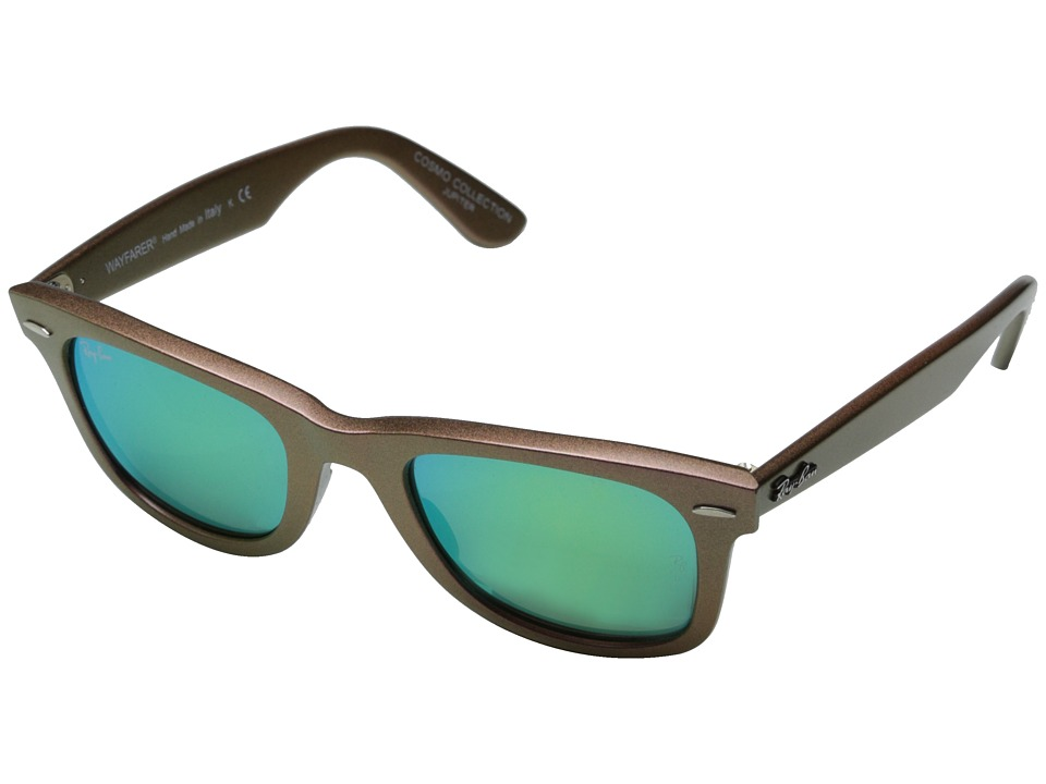 Ray-Ban - RB2140 Iridescent Colored Wayfarer 50mm (Jupiter Metallic Pink/Grey Mirror Green) Fashion Sunglasses