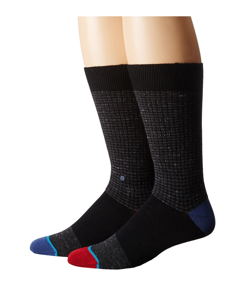 Stance - Sheldon (Black) Men's Crew Cut Socks Shoes