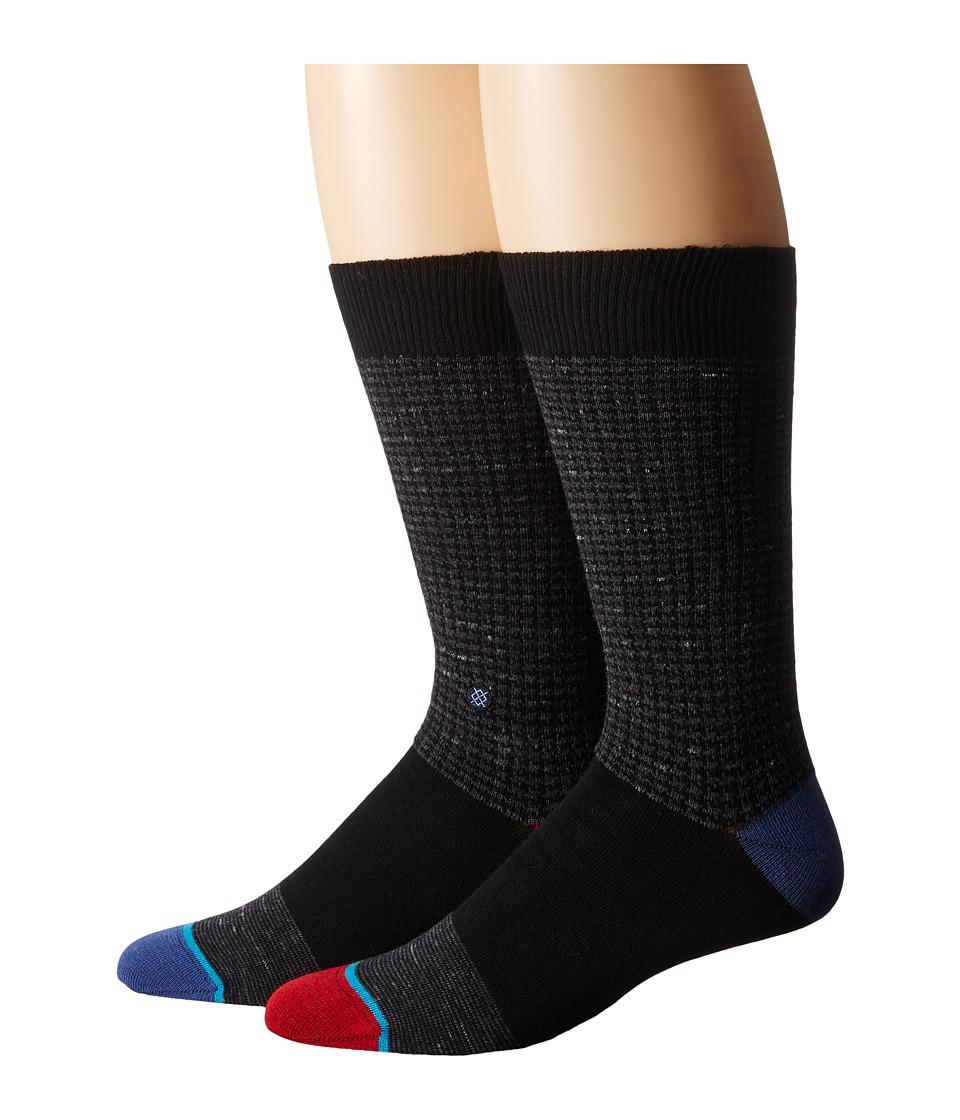 Stance - Sheldon (Black) Men's Crew Cut Socks Shoes