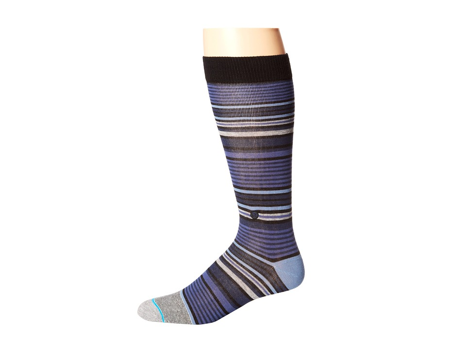 Stance - Owes (Navy) Men's Crew Cut Socks Shoes