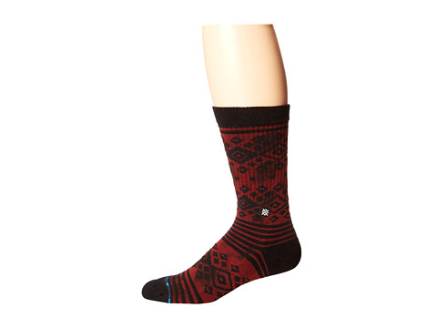 Stance - Wiggly (Brown) Men's Crew Cut Socks Shoes