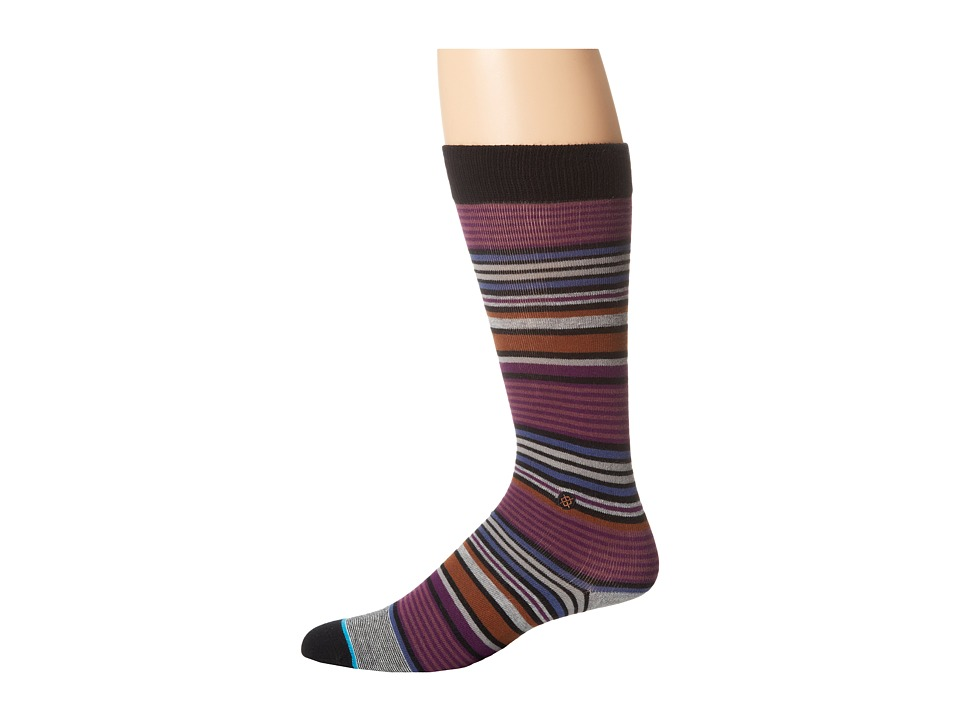 Stance - Owes (Purple) Men's Crew Cut Socks Shoes