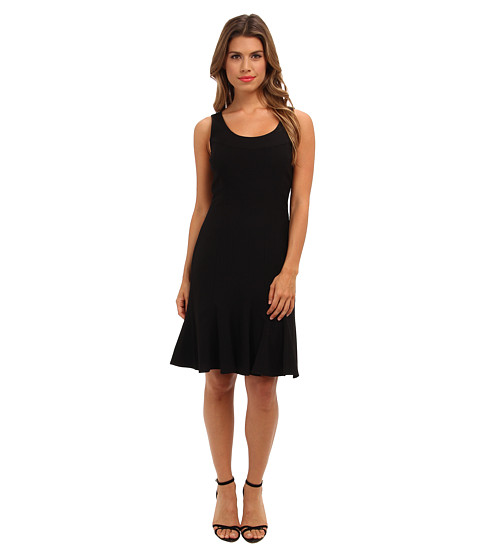 Calvin Klein - Lux Dress with Trumpet Skirt CD4X16Z7 (Black) Women