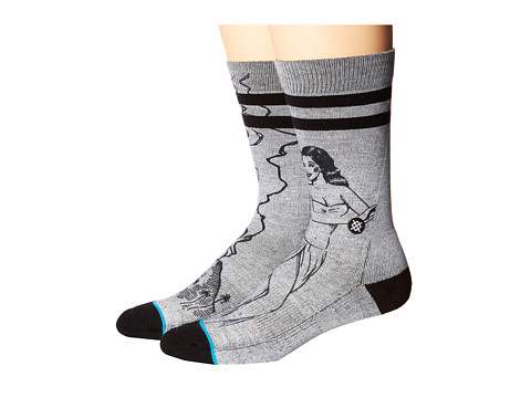 Stance - Schrader (Grey) Men's Crew Cut Socks Shoes
