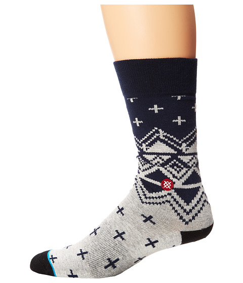 Stance - Asher (Blue) Men's Crew Cut Socks Shoes