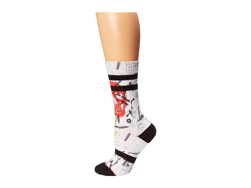Stance - Moblow 2 (White) Women's Crew Cut Socks Shoes