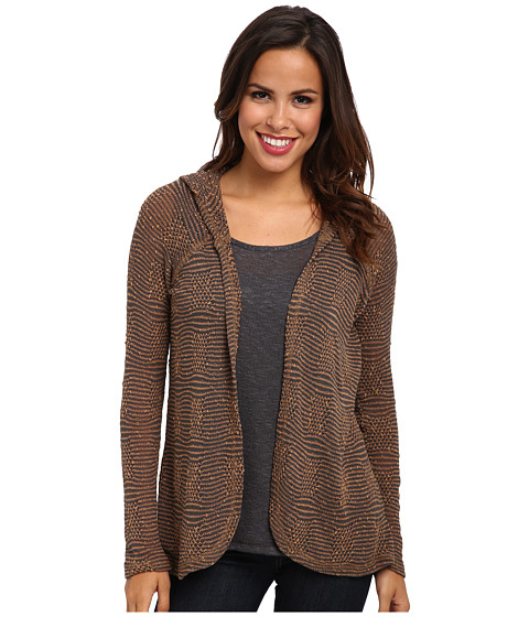 Miraclebody Jeans - Heidi Hooded Twin Set w/ Body-Shaping Inner Shell (Praline) Women's Sweater