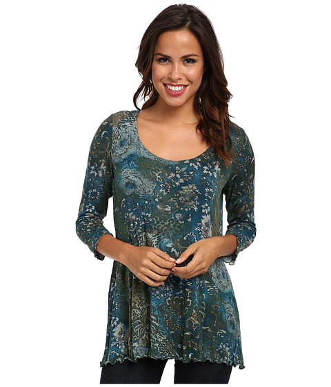Miraclebody Jeans - BFF Wildflower Print Top w/ Body-Shaping Inner Shell (Dusk) Women