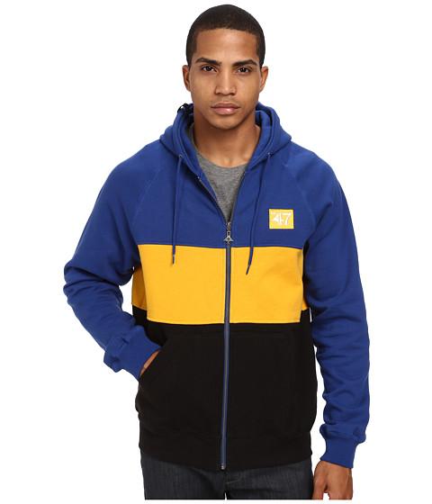 L-R-G - LFTD 1947 Zip Hoodie (Gibson Blue) Men's Sweatshirt