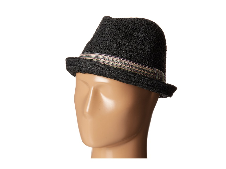 Roxy - Solar Rays Straw Hat (True Black) Traditional Hats