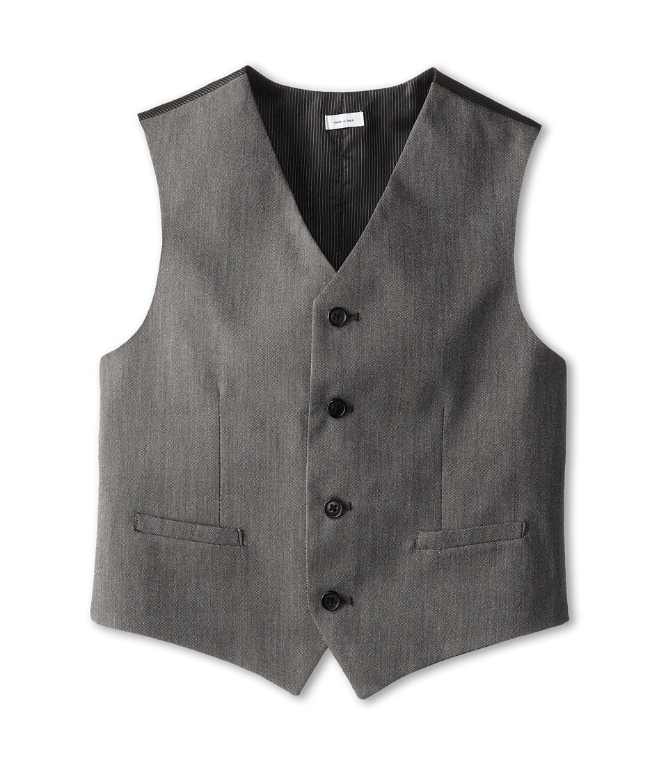 Calvin Klein Kids - CK Pindot Vest (Big Kids) (Light Grey) Boy's Vest