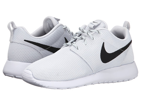 Nike - Roshe Run (Pure Platinum/White/Black) Women