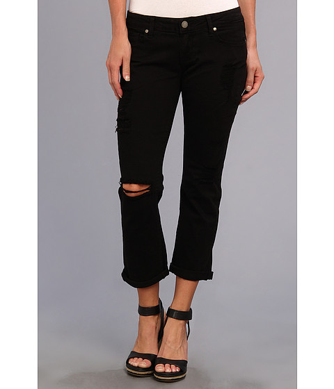 Paige - Jimmy Jimmy Crop in Black Destructed (Black Destructed) Women's Jeans