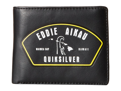 Quiksilver - Eddie Wallet (Black) Bill-fold Wallet