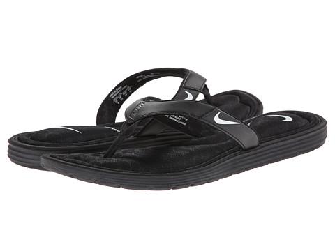 Nike - Solarsoft Comfort Thong (Black/Anthracite/White) Women