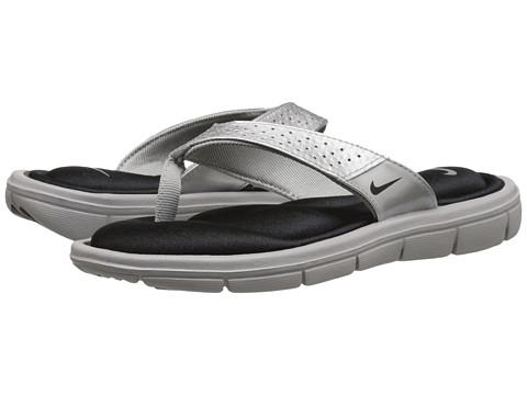 Nike - Comfort Thong (Metallic Silver/Black) Women