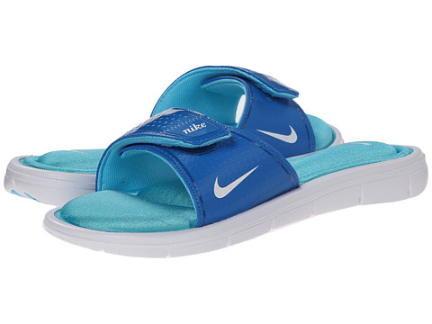 Nike - Comfort Slide (Dark Electric Blue/Clear Water/White) Women