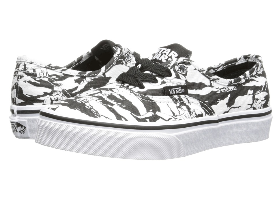 Vans Kids - Star Wars Authentic (Little Kid/Big Kid) ((Star Wars) Dark Side/Storm Camo) Girls Shoes