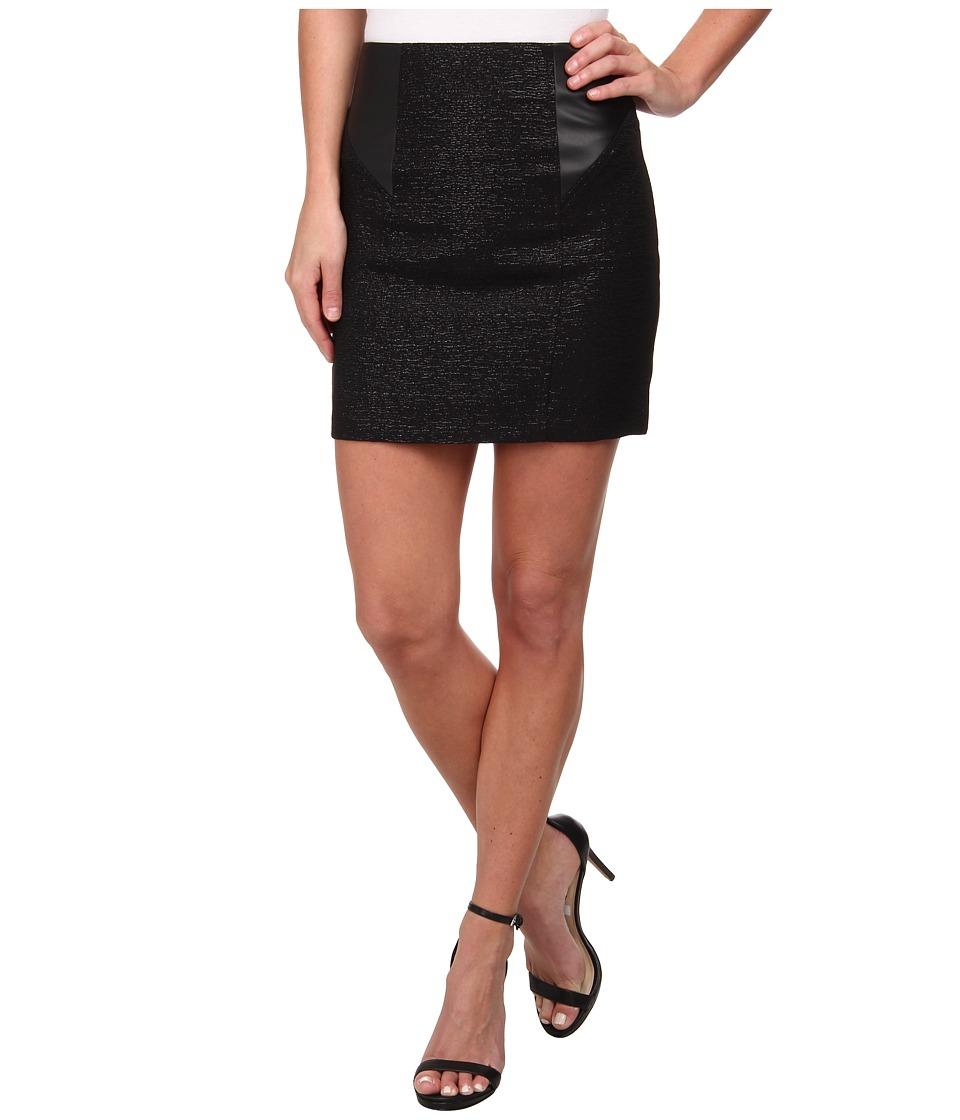 BCBGeneration - Contrast Inset Pencil Skirt DMV3F122 (Black) Women's Skirt