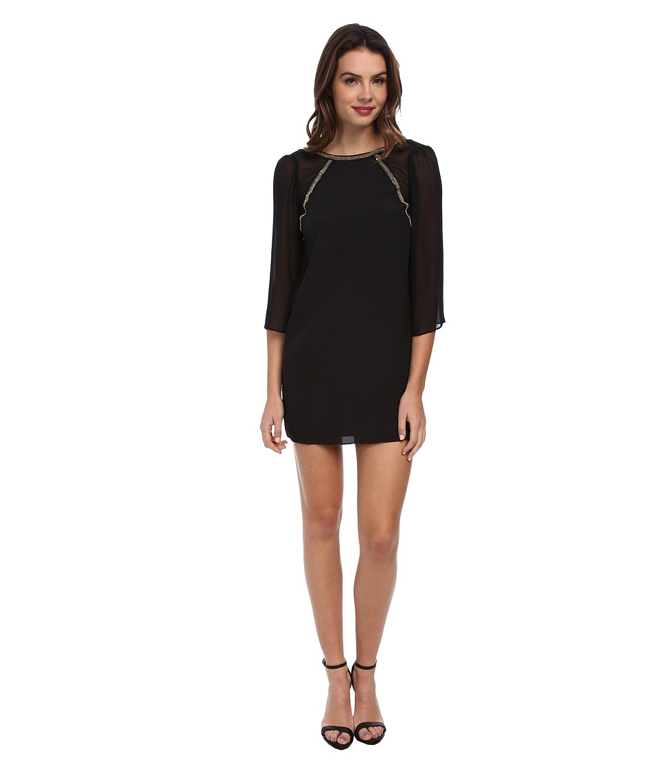 BCBGeneration - Flutter Sleeve Shift Dress KUD63C18 (Black) Women's Dress