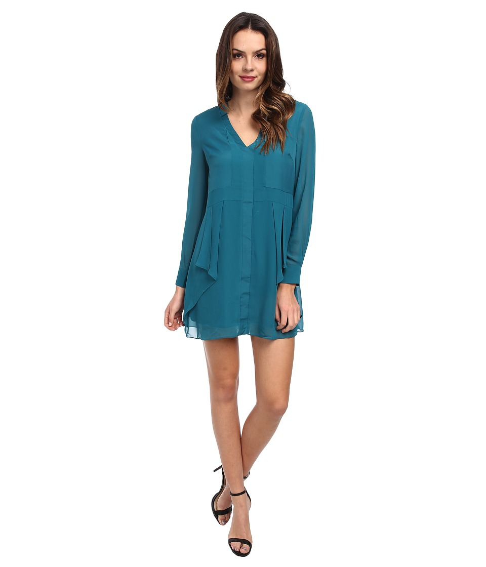 BCBGeneration - Flounce Front Dress VDW63C21 (Viridian) Women