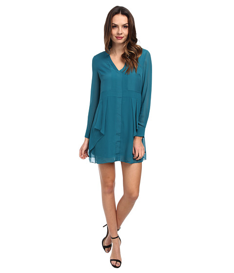 BCBGeneration - Flounce Front Dress VDW63C21 (Viridian) Women's Dress
