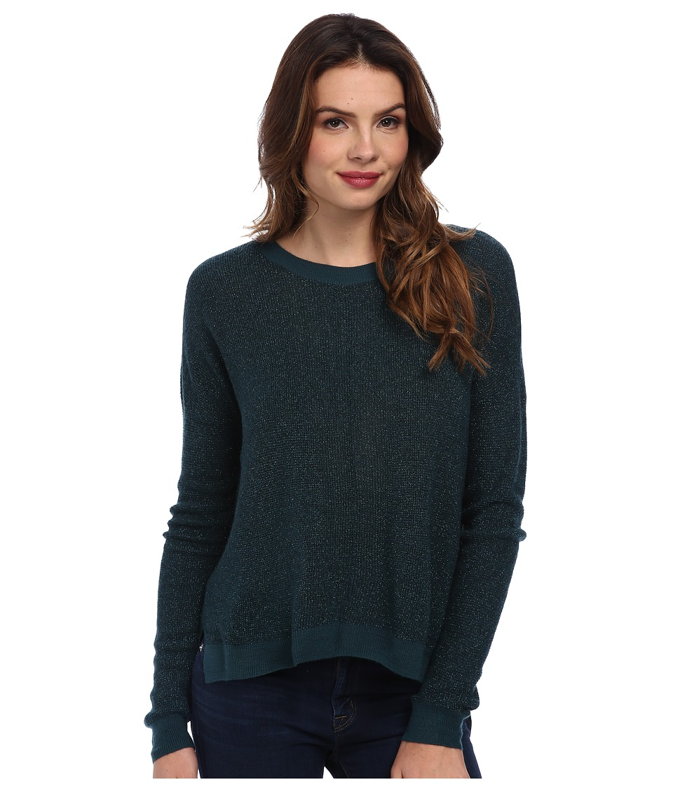 BCBGeneration - Metallic Plaited Crew Neck DZQ1T309 (Metallic Viridian) Women