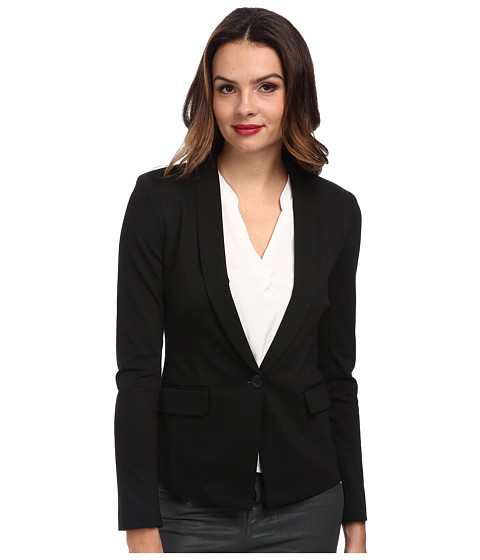BCBGeneration - Shawl Collar Blazer XGN4H755 (Black) Women's Jacket