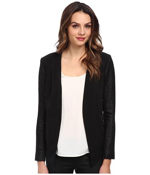 BCBGeneration - Drape Front Blazer XYE4H762 (Black) Women's Jacket