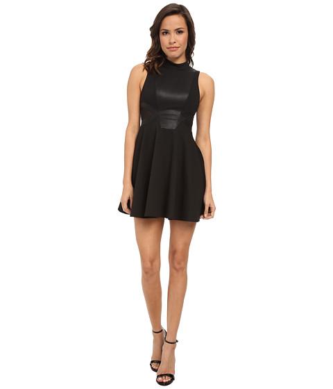 BCBGeneration - Mock Neck Dress w/ Contrast Back XGN65C85 (Black) Women