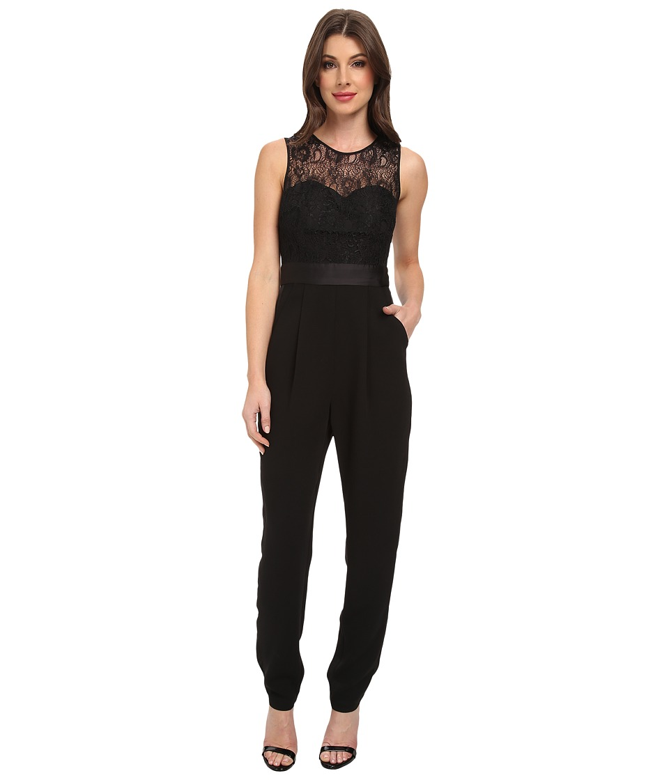 BCBGeneration - Tuxedo Pant Jumpsuit GEF9C613 (Black) Women's Jumpsuit & Rompers One Piece