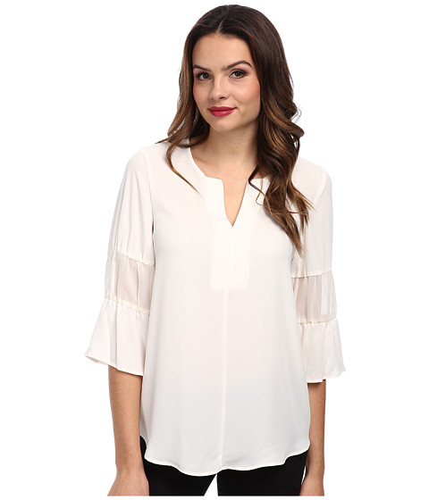 BCBGeneration - Blouson Sleeve Top QSD1T234 (Whisper White) Women's Blouse