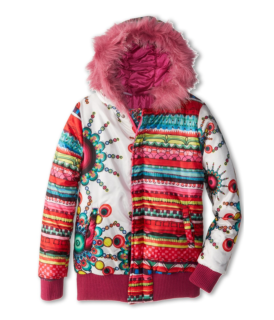 Desigual Kids - Faux Fur Trim Reversible Jacket (Little Kids/Big Kids) (Fuchsia) Girl's Jacket