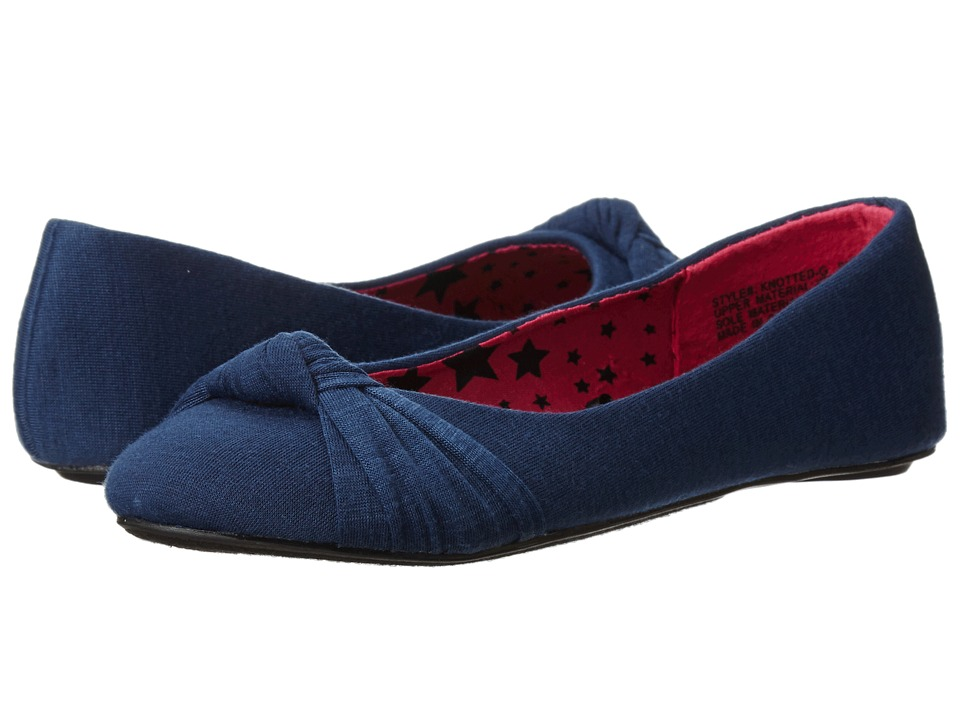 Simply Petals - Knotted-G (Little Kid/Big Kid) (Navy) Girls Shoes