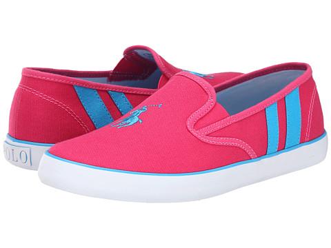 Polo Ralph Lauren Kids - Serena II (Big Kid) (Ultra Pink Canvas/Caribbean Blue Stripes) Girl's Shoes