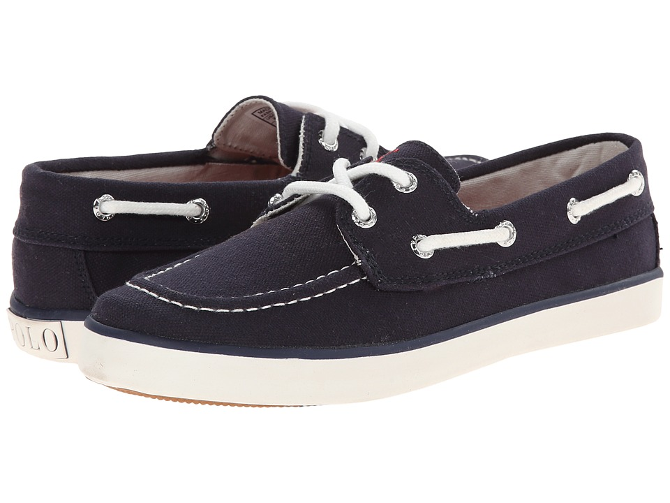Polo Ralph Lauren Kids - Sander (Little Kid) (Navy Canvas With Red Pony Player) Kid's Shoes